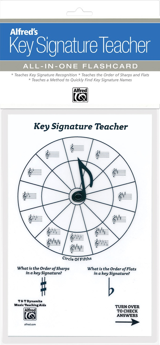 Alfred's Key Signature Teacher: All-In-One Flashcard (White)