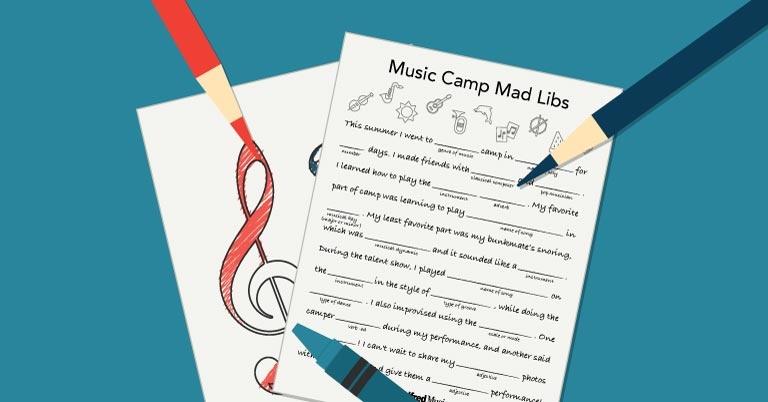 Free Activity: Back-to-School Music Mad Lib