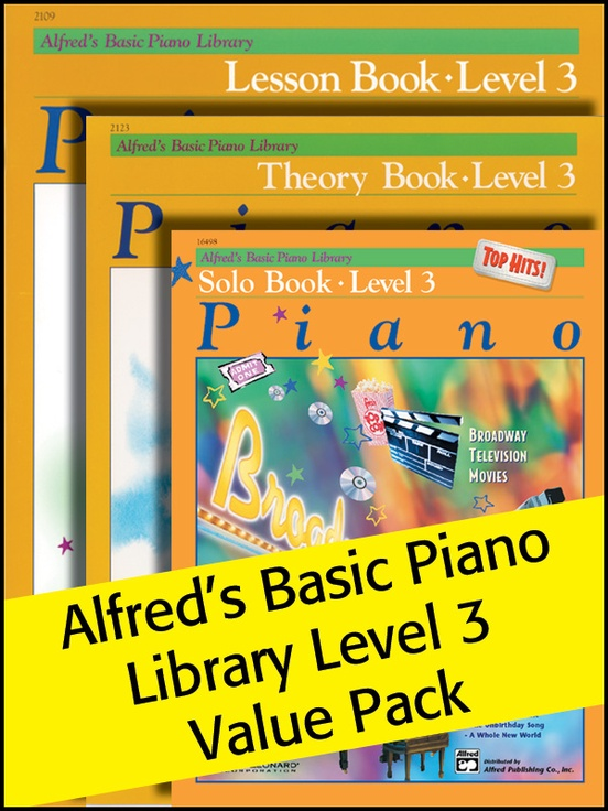 Alfred's Basic Piano Library 3 2012 (Value Pack)