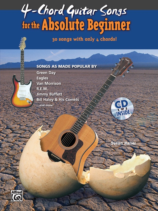4-Chord Songs for the Absolute Beginner: Guitar Book & CD