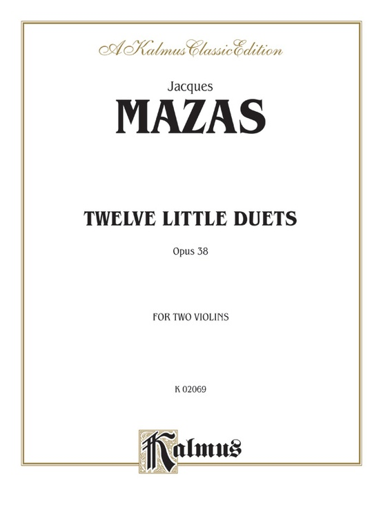 Twelve Little Duets, Opus 38