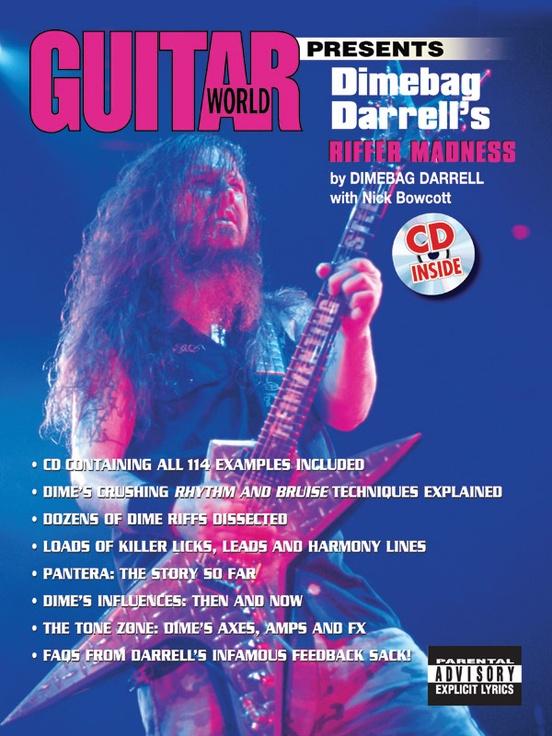 Guitar World Presents Dimebag Darrells Riffer Madness Guitar Book