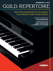 Guild Repertoire: Piano Music Appropriate for the Auditions of the National Guild of Piano Teachers, Elementary C & D