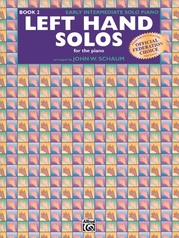 Left-Hand Solos, Book 2 (for left hand alone)