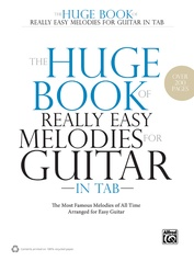 The Huge Book of Really Easy Melodies for Guitar in TAB