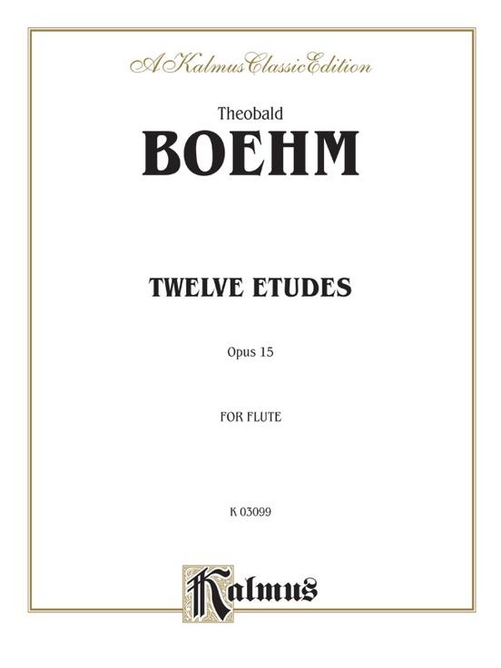 Twelve Studies, Opus 15 for Flute Solo