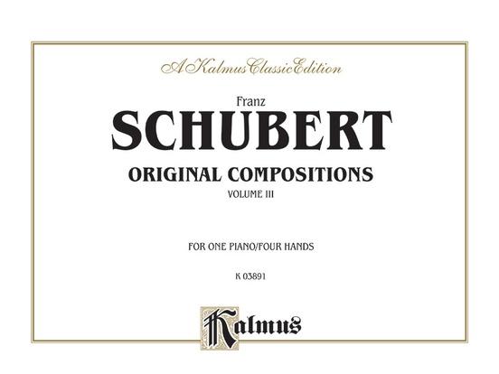 Original Compositions for Four Hands, Volume III