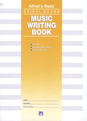"Music Writing Book (9"" x 12""), 10-Stave"