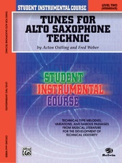 Student Instrumental Course: Tunes for Alto Saxophone Technic, Level II
