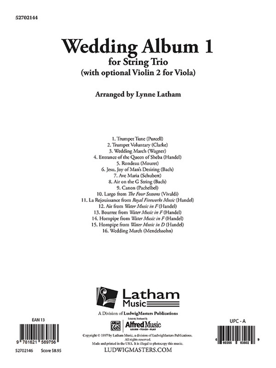 Wedding Album 1 - String Trio