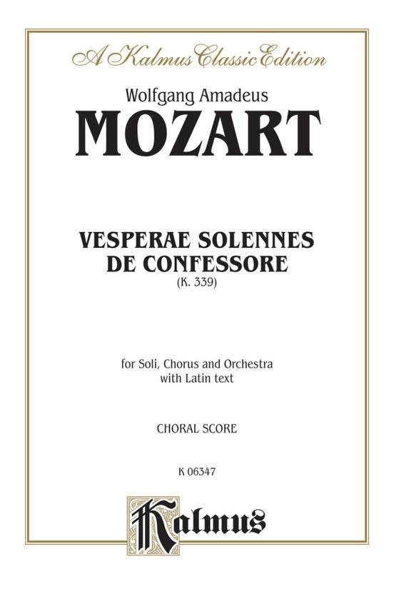Vesperae solennes de confessore k 339 satb with satb soli choral vesperae solennes de confessore k 339 fandeluxe Image collections