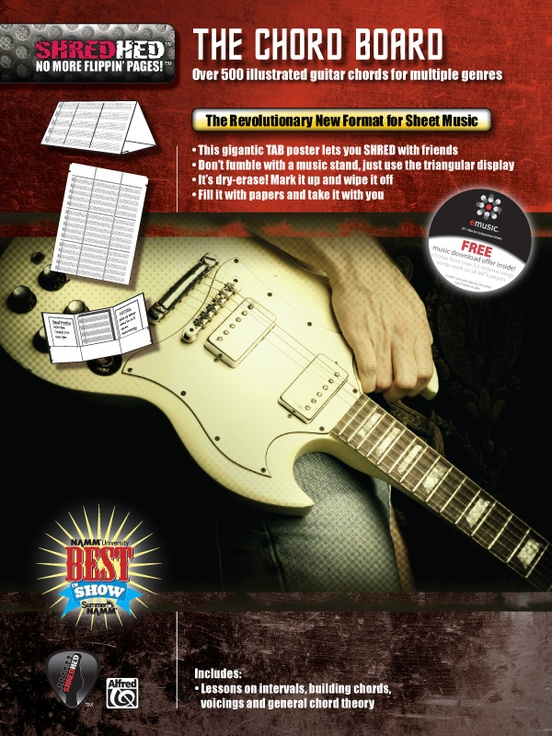 The Chord Board Guitar Poster Folder Triangular Display