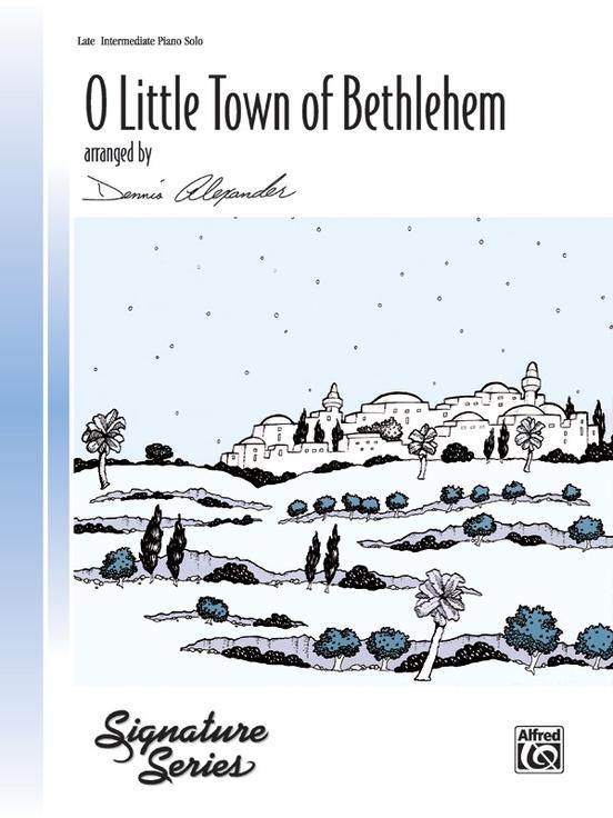 O Little Town Of Bethlehem Piano Sheet