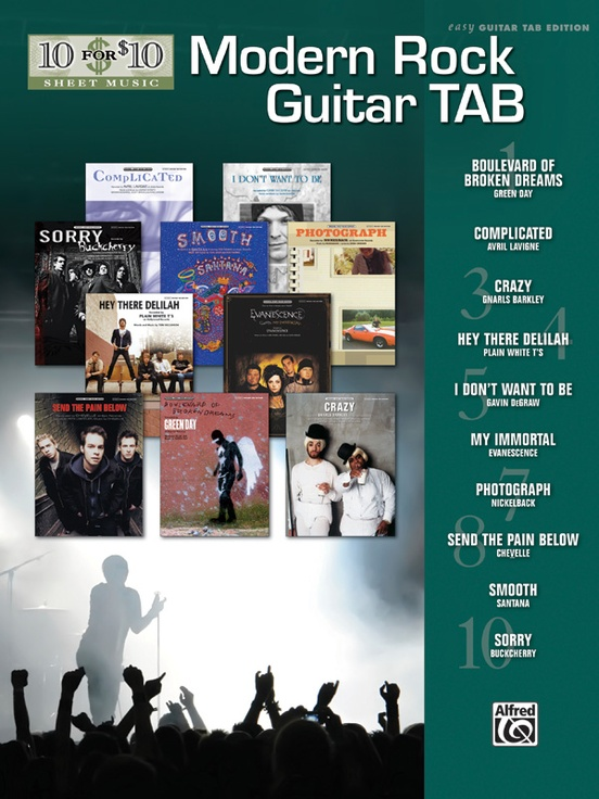 10 for 10 Sheet Music: Modern Rock Guitar Tab