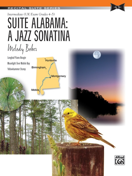 Suite Alabama A Jazz Sonatina Piano Sheet Melody Bober