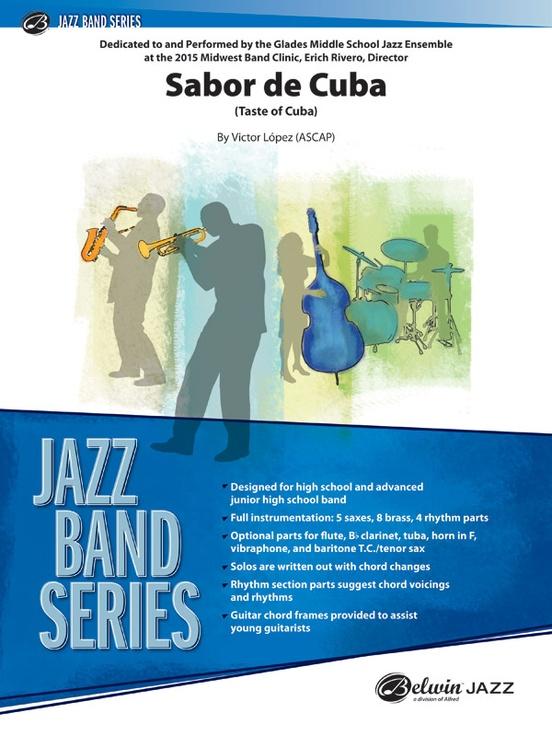 Sabor de Cuba: Jazz Ensemble Conductor Score & Parts: Victor Lpez