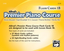 Premier Piano Course, Flash Cards 1B