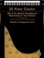 50 Piano Classics, Volume 1: Composers A-G