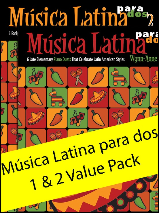 Música Latina para dos 1 & 2 (Value Pack)