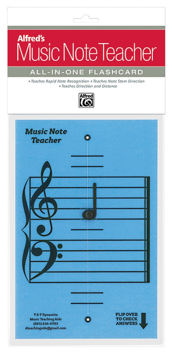 Alfred's Music Note Teacher: All-In-One Flashcard (Blue)