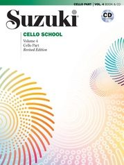 Suzuki Cello School Cello Part & CD, Volume 4 (Revised)