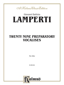 Twenty-Nine Preparatory Vocalises
