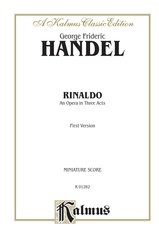 Rinaldo (1711), An Opera in Three Acts (First Version)