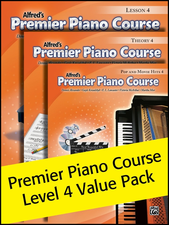 Premier Piano Course, Lesson, Theory & Pop Hits 4 (Value Pack 2012)