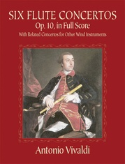 Six Flute Concertos, Opus 10, with Related Concertos for Other Wind Instruments