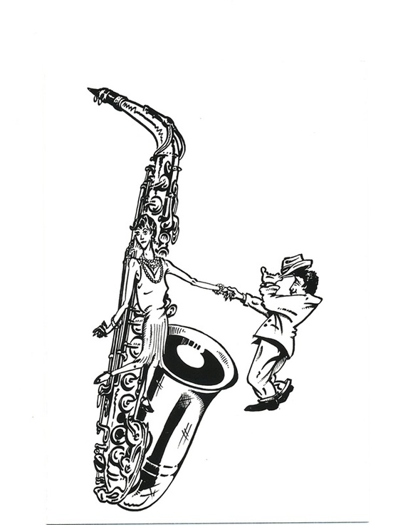 Greeting Cards: Saxophone (Pack of 8)