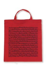 Tote Bag: Sheet Music (Red)
