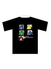 Taste Woodwinds! T-Shirt: Black (Large)
