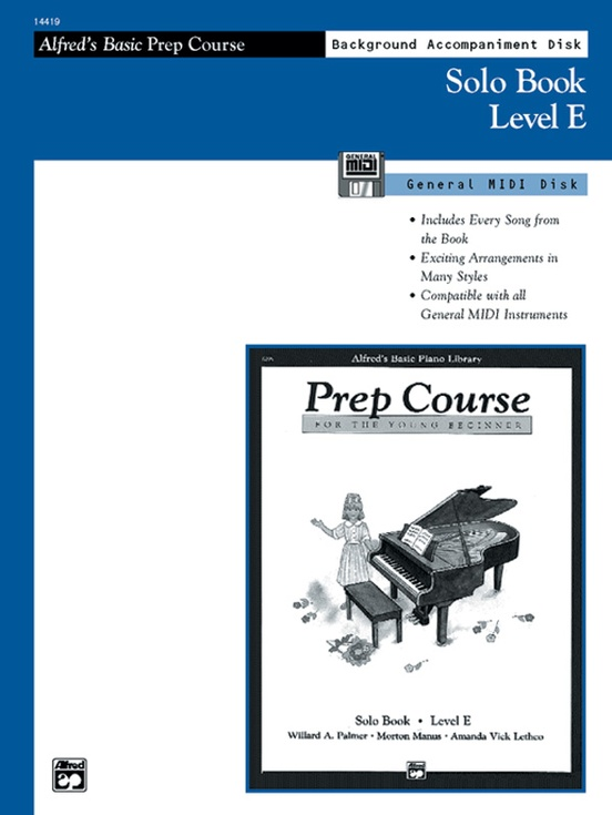 Alfred's Basic Piano Prep Course: GM Disk for Solo Book E