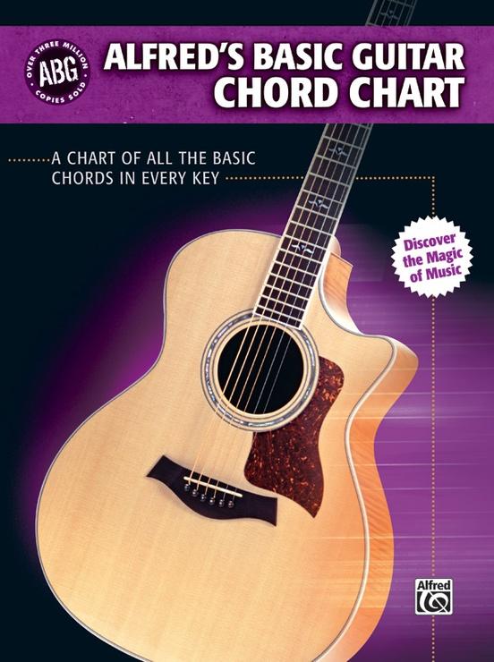 Alfreds Basic Guitar Chord Chart Guitar Book
