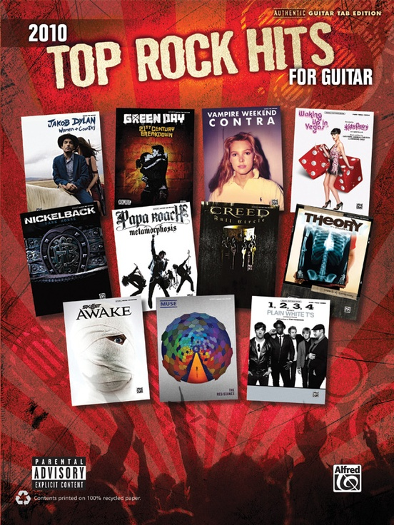 2010 Top Rock Hits for Guitar