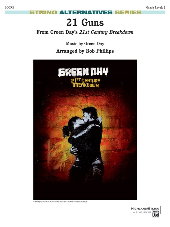 21 Guns String Orchestra Conductor Score Parts Green Day