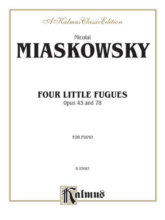 Four Little Fugues, Opus 43, 78