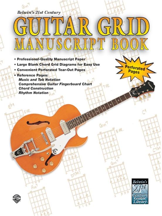 Belwins 21st Century Guitar Grid Manuscript Book Guitar Manuscript