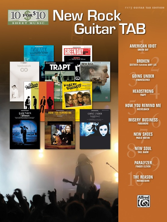 10 for 10 Sheet Music: New Rock Guitar Tab