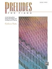 Preludes for Piano, Book 3