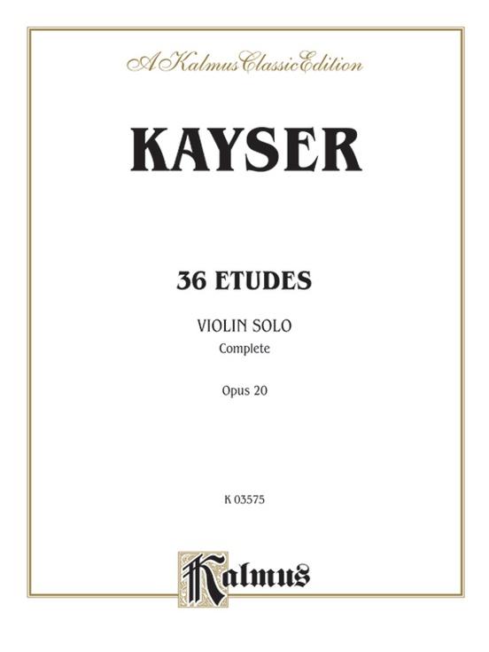 36 Etudes, Opus 20 (Complete)
