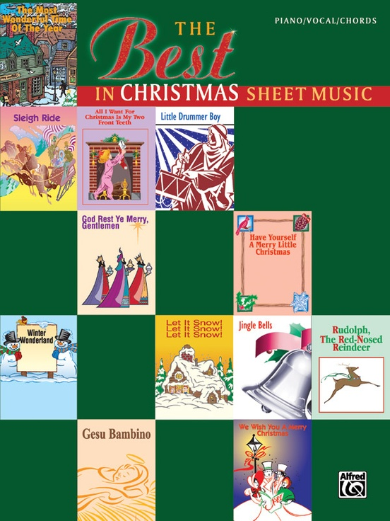 The Best In Christmas Sheet Music Pianovocalchords Book