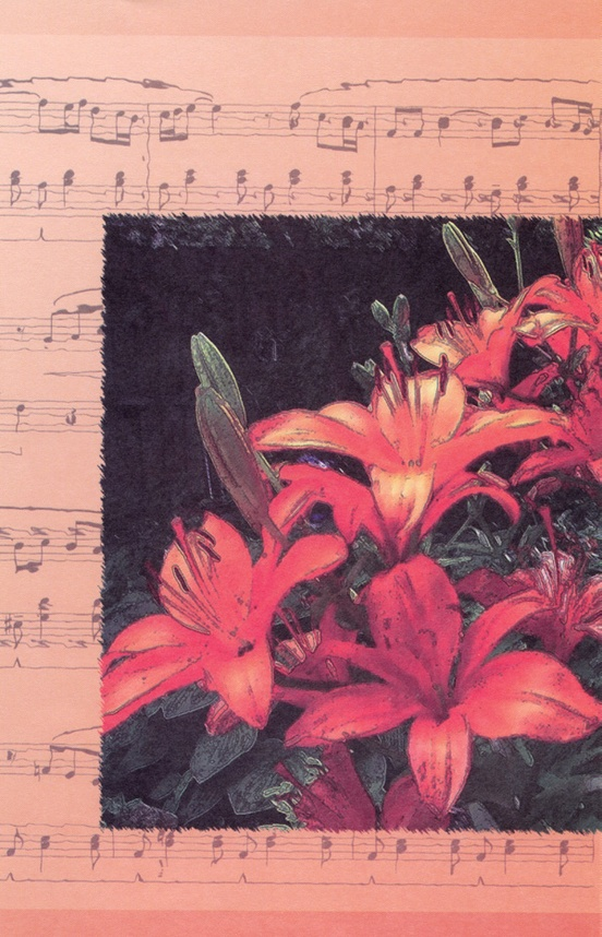 Schaum Recital Programs (Blank) #56: Lilies with Music