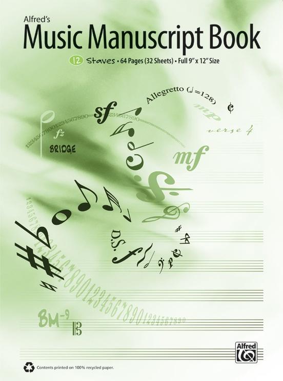 alfred s music manuscript book 12 stave manuscript paper
