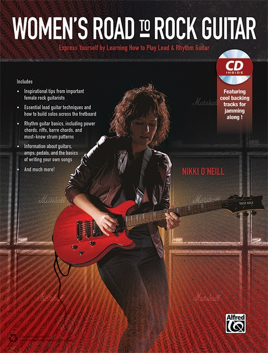 Women\'s Road to Rock Guitar: Guitar Book & CD