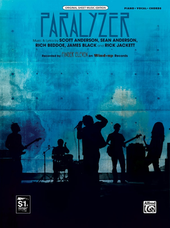 Paralyzer: Piano/Vocal/Chords Sheet: Finger Eleven