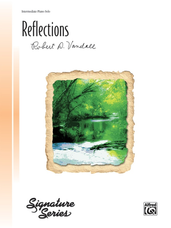 ALFRED Robert.D 29136 Reflections piano solo; Vandall intermediate