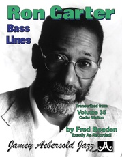 Ron Carter Bass Lines, Vol. 35