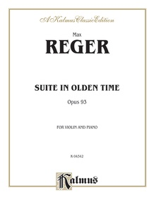 Suite in Olden Time, Opus 93