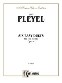 Six Easy Duets, Opus 8
